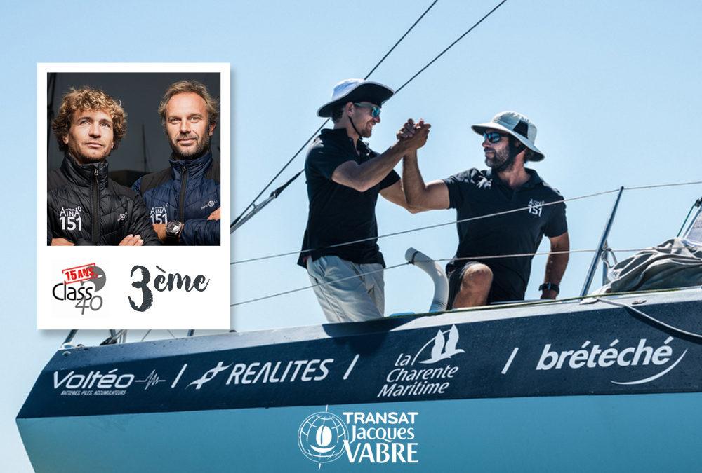 Transat Jacques Vabre : le duo Chappellier – Leboucher sur la 3e marche du podium